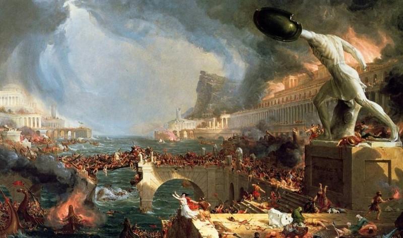 einde van het romeinse rijk