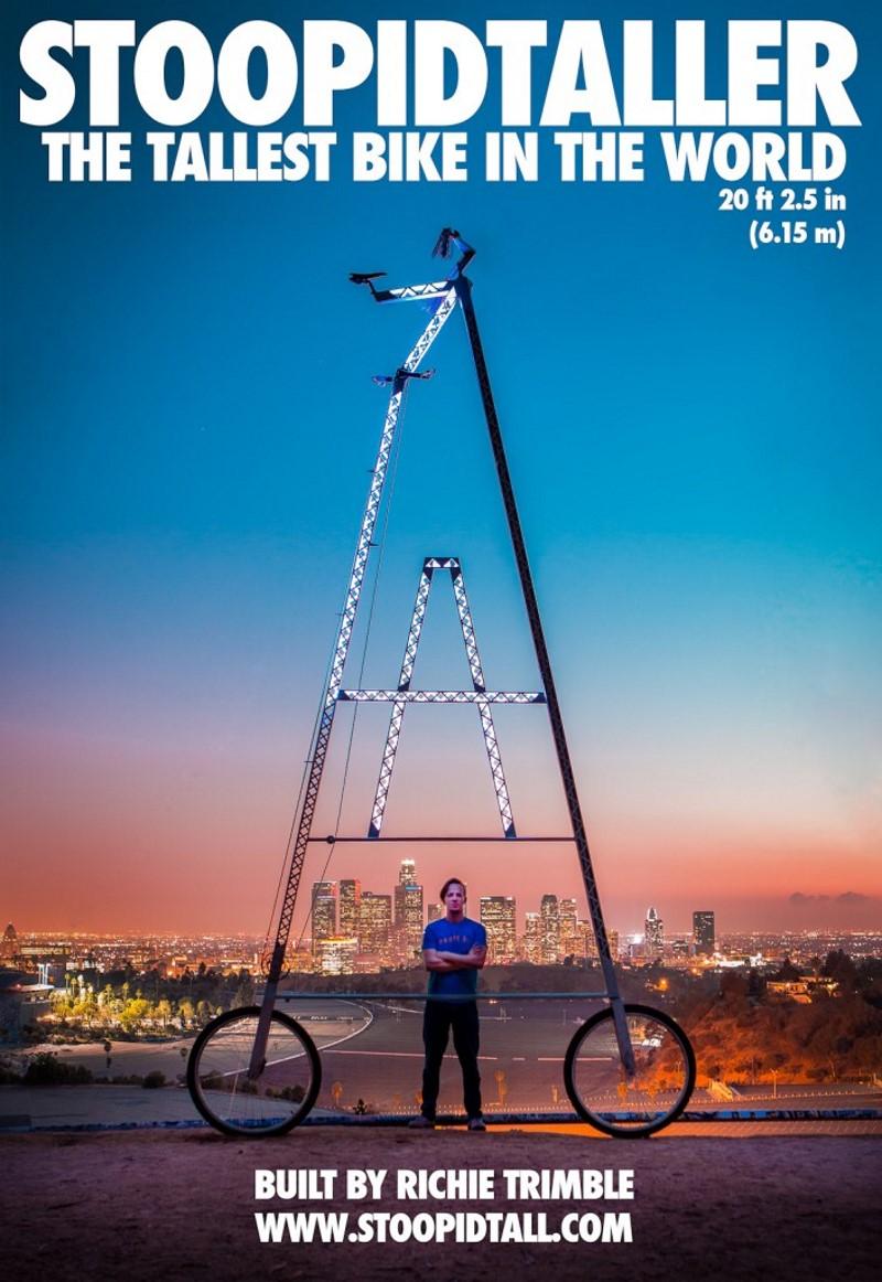 STOOPIDTALLER - de hoogste fiets ooit gemaakt